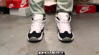 "Reebok Question Mid ""White/ Black"" On-feet Video at Exclucity"