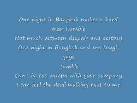 One night in Bangkok lyrics.wmv
