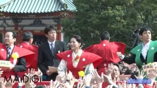 女優の綾瀬はるかさんらNHK大河ドラマ「八重の桜」の主要キャストが2月3...