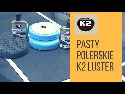 Pasty polerskie K2 LUSTER - mechaniczne polerowanie lakieru, polerka, system polerski K2