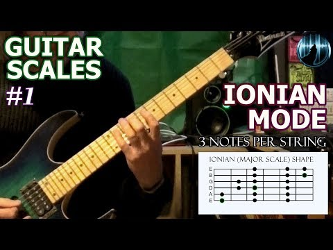 Modes For Guitar #1 | Ionian Mode | Major Scale | 3 Notes Per String