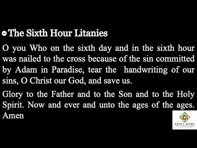 Sixth Hour Litany