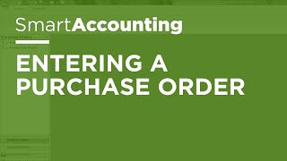 SmartAccounting - Entering a Purchase Order