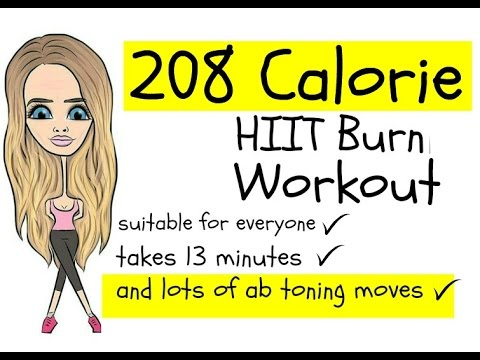 208 CALORIE BURNING HIIT WORKOUT - suitable for every fitness level and easy to follow
