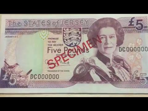 Jersey Specimen 5 Pound Note