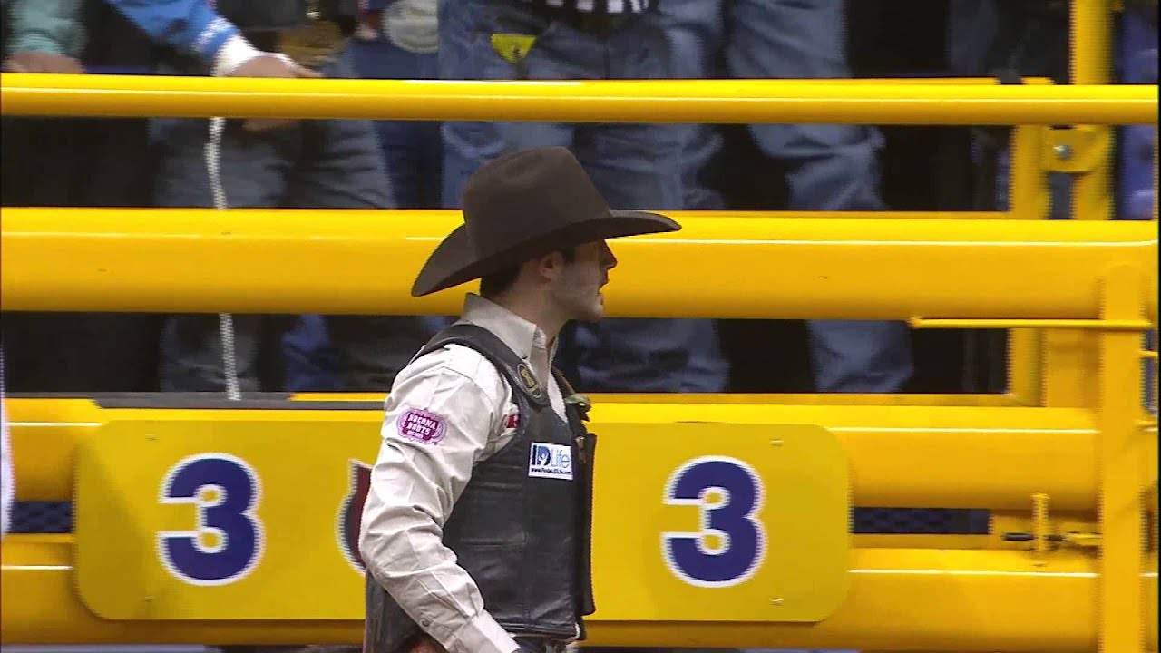 95a13395 WEATHER GUARD Save Of The Night - 2014 Wrangler NFR Round 6 - YouTube