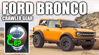 How The 2021 Ford Bronco's Clever Crawler Gear Works