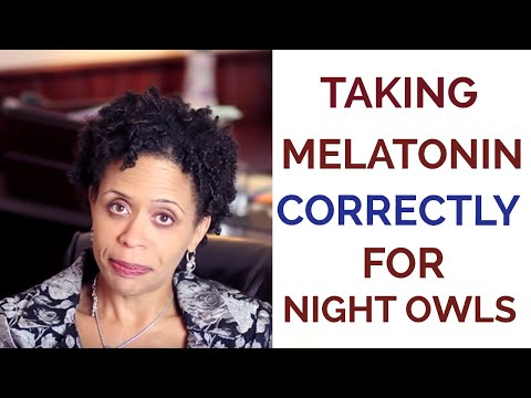 Taking Melatonin Correctly for Night Owls