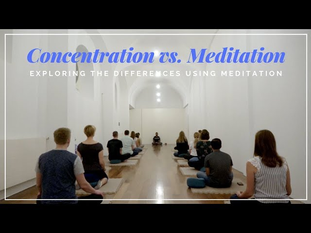 Concentration vs. Meditation: Exploring the Differences using Meditation