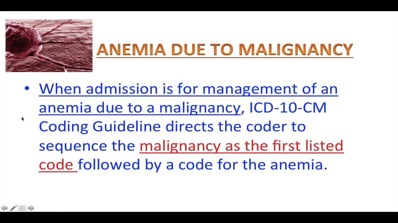 ICD10 for kindergarten - ICD-10-CM - Lesson 5 - Anemia Coding - YouTube