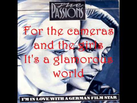 The Passions - I'm In Love With A German Film Star (Lyrics)