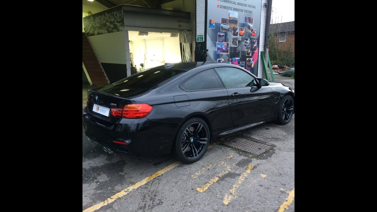 Bmw m4 2016 window tint in 20 solar gard youtube for 20 window tint at night