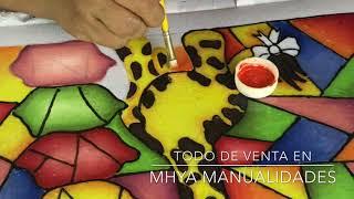 TUTORIAL PINTURA EN TELA//COMO USAR JOYA LIQUIDA//COMO HACER UN FALSO VITRAL EN TELA