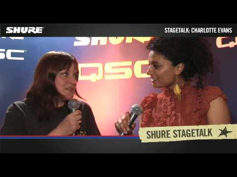 Shure Stage Talk mit Charlotte Evans