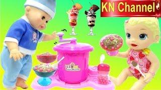 Đồ chơi trẻ em MÁY LÀM KEM MINI TẠI NHÀ Ice cream Machine BABY ALIVE DOLL