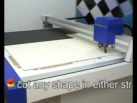 Gunnar 4001 Xl Cutting Museum And Foam Board Youtube