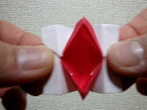 バラ 折り紙:動く折り紙-youtube.com