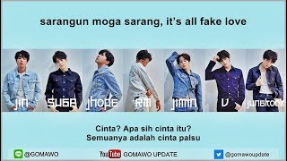 Easy Lyric BTS FAKE LOVE by GOMAWO Indo Sub