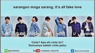 Video Easy Lyric BTS - FAKE LOVE by GOMAWO [Indo Sub] download MP3, 3GP, MP4, WEBM, AVI, FLV Agustus 2018