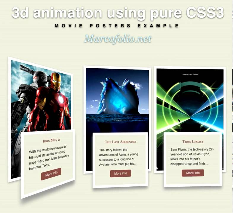 3d animation using pure CSS3