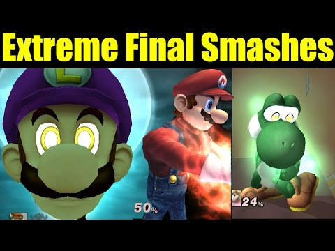 EXTREME, POWERFUL And DESTRUCTIVE Final Smashes In Super Smash Bros (Smash Mods)