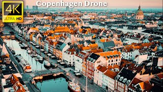 Copenhagen, Denmark - 4K UHD Drone Video