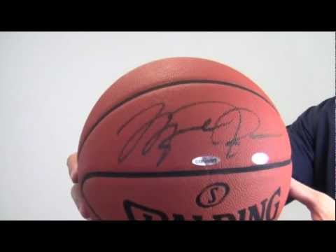 size 40 3c796 3baf8 Michael Jordan Autographed Basketball - Official Game Ball - UDA