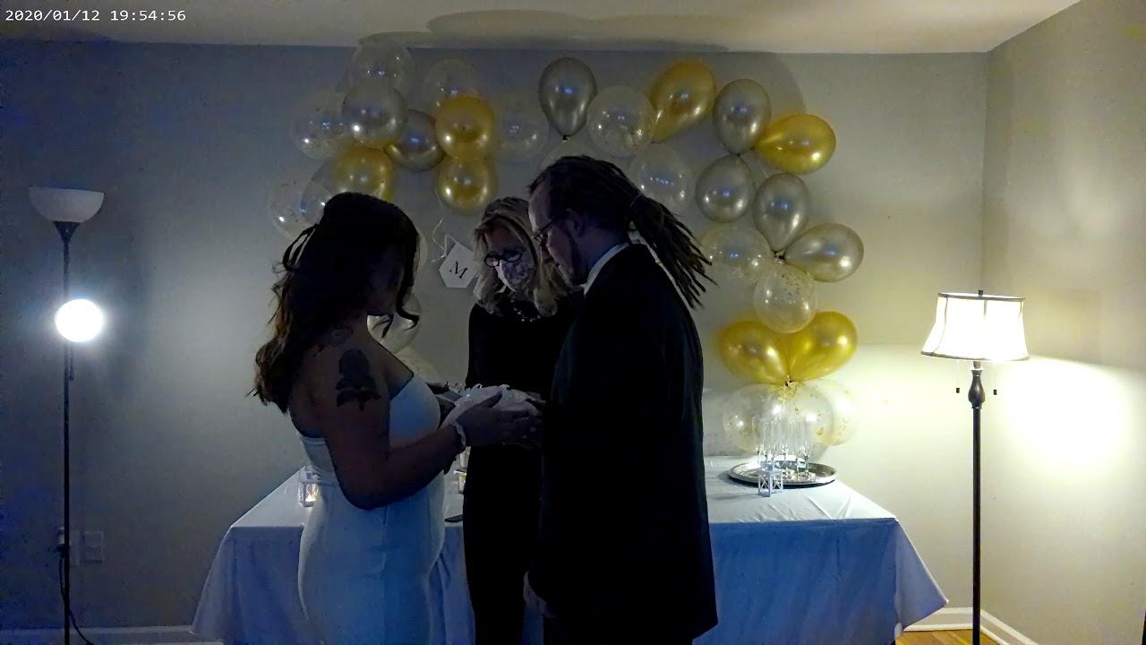 Christopher & Constanza Livingroom Wedding