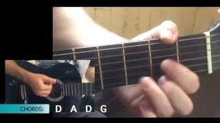 How to play 'Waltzing Matilda' on Guitar [CHORDS] (1080P HD)