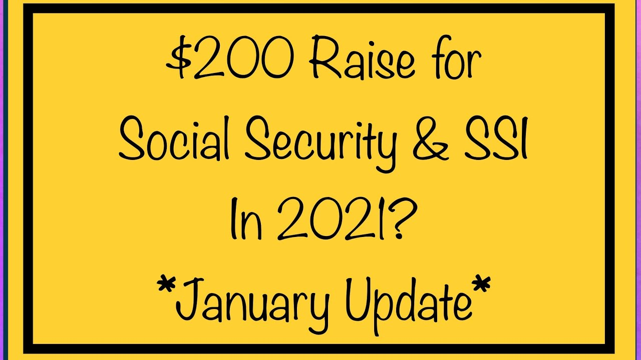 $20 Raise for Social Security, SSI & VA Benefits in 20 SSA, SSDI, SSI,  VA   January Update