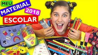 MEU NOVO MATERIAL ESCOLAR 2018 - Mileninha
