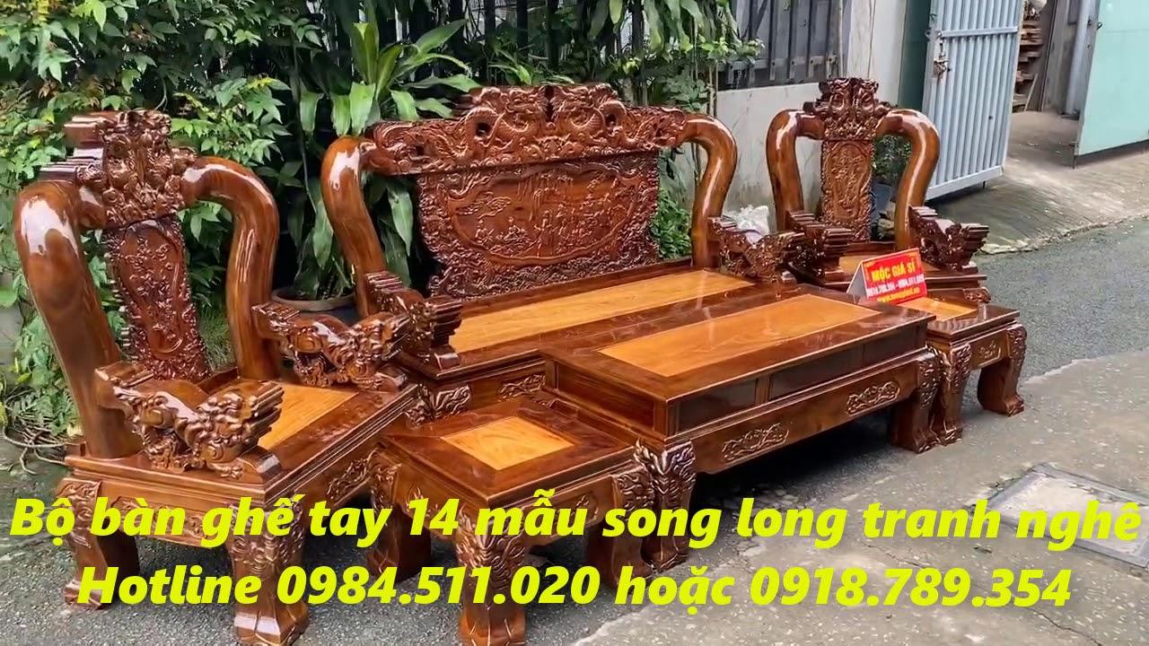 GIÁ RẺ NHẤT THỊ TRƯỜNG/Bộ bàn ghế tay 14 mẫu rồng long vương giá sập sàn chỉ 19tr500