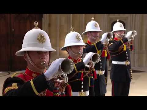 The Bugles of the Royal Marines sound The Last Post at St. George's Chapel