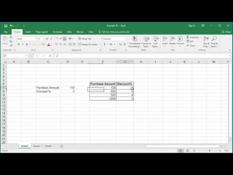 How to Look up Data using LOOKUP function in Excel 2016