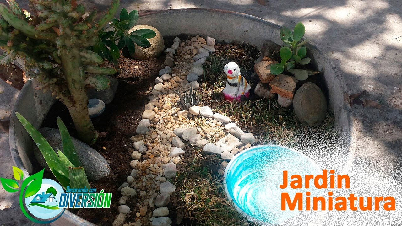 Como hacer un jardin peque o jardin miniatura parte ii for Como arreglar un patio pequeno crear un jardin