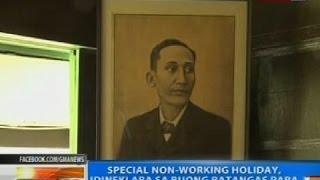 NTG: Special non-working holiday, idineklara sa buong Batangas para sa birth anniv ni Mabini