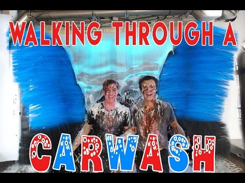 Walking Through A Car Wash!!