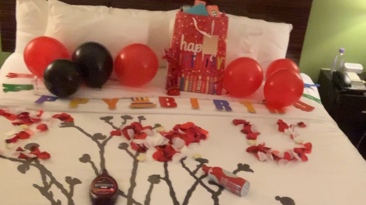 Surprise Hotel Room Birthday Party Decorations