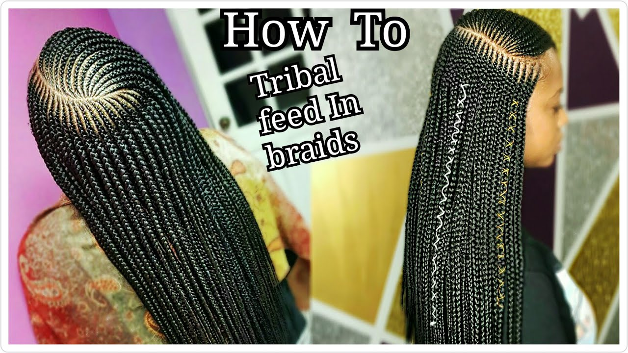 Very Neat Side Part Tribal Feed In Cornrow With Braids