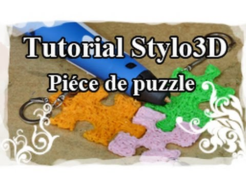 DIY : 3D pen / Stylo 3D Tutoriel N°6 : Porte-clé piéce de puzzle