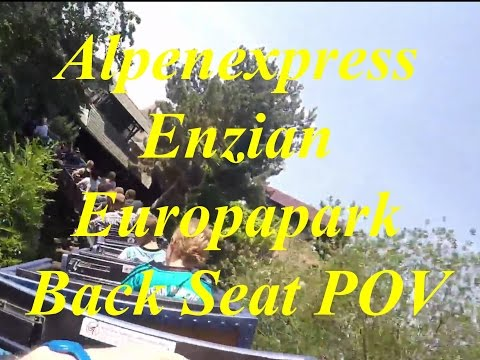 Alpenexpress Enzian Europapark Back Seat POV Full HD