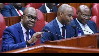 Safaricom CEO Bob Collymore faces Parliamentary ICT Committee on his first day back