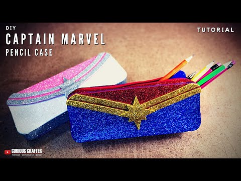 Easy DIY Pencil Case - Captain Marvel [Avengers] - School Supplies