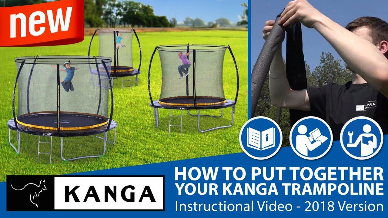 Kanga Trampoline Assembly Instructions 2018 - YouTube