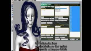 Maya Hair script demo reel