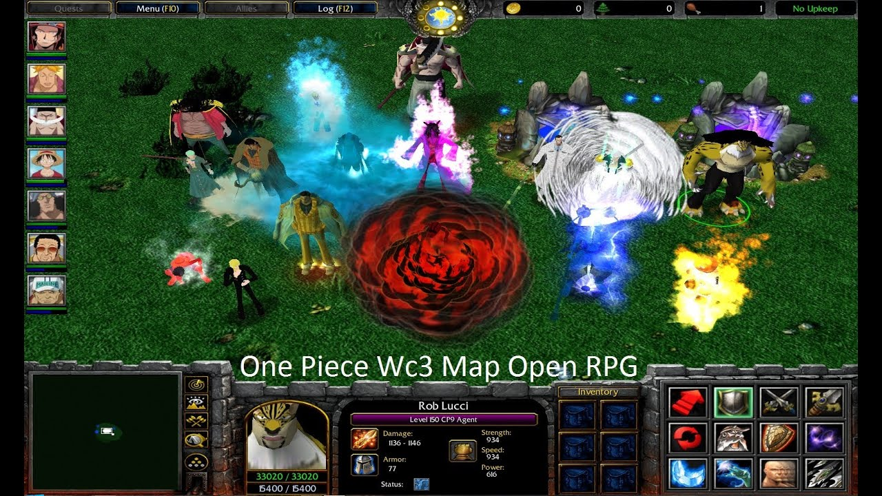 one piece wc3 map open rpg kizaru ace and rob lucci youtube. Black Bedroom Furniture Sets. Home Design Ideas