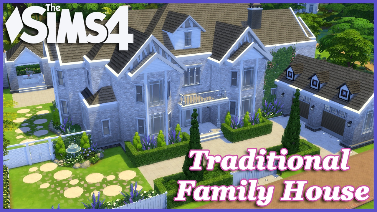 The Sims 4   Large Traditional Family House 1/2   YouTube