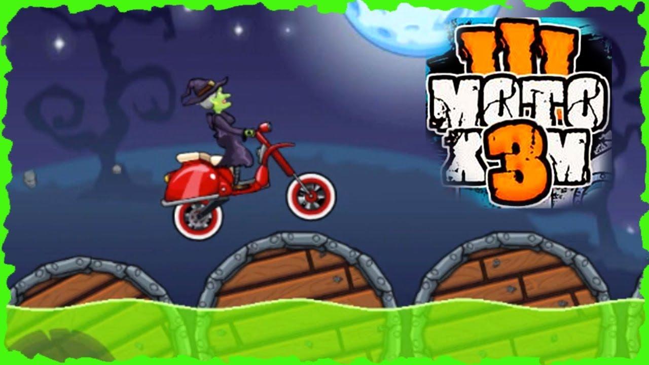 MOTO X3M Bike Racing Game - Update Halloween All levels Walk-through