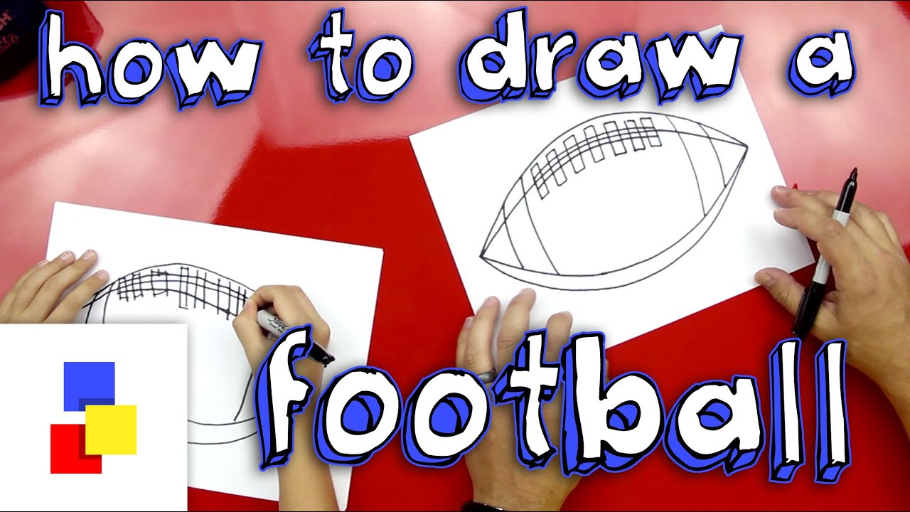 How To Draw A Football American Youtube