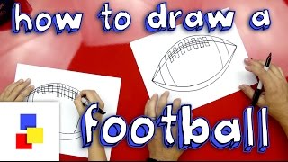 How To Draw A Football (American)